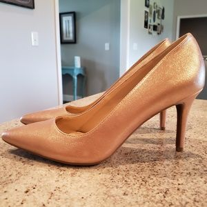 Jessica Simpson Shoes - Jessica Simpson Rose Gold Pumps - 3 inch heels
